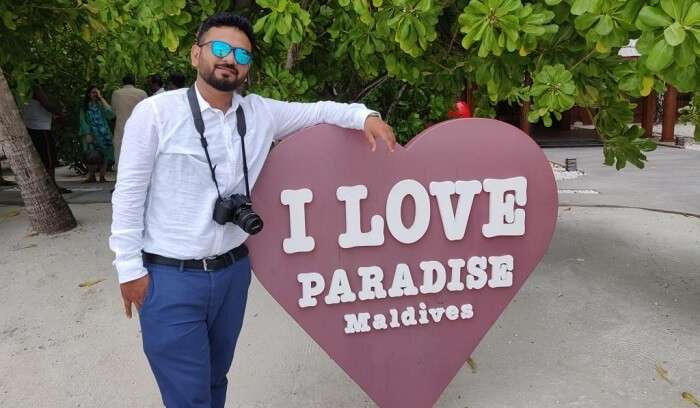 loving the paradise in Maldives