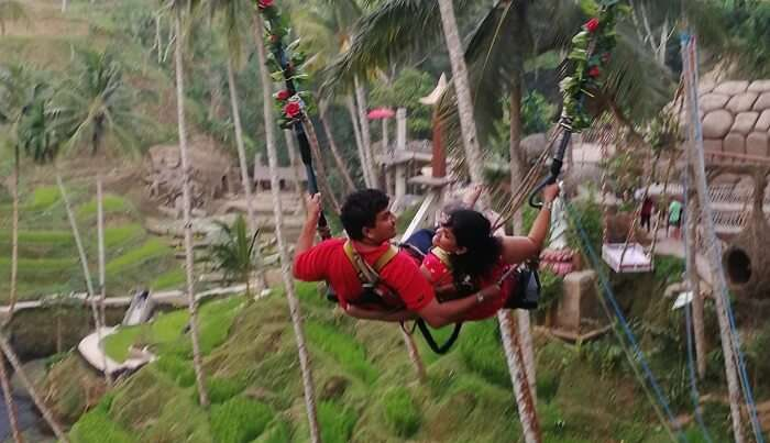 enjoyed the swing in ubud