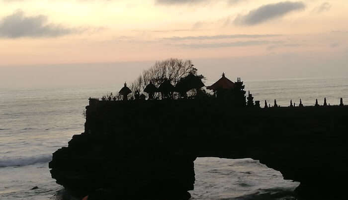 view of the tanha lot temple