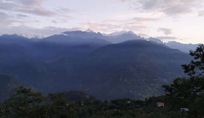 stunning views of the sunrise at Kanchenjunga