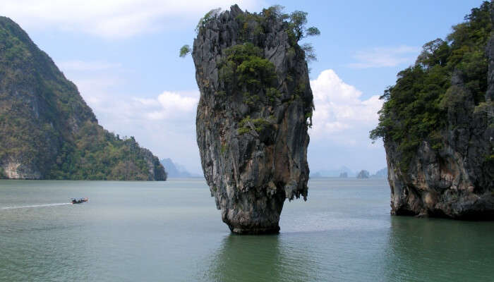 This scenic island