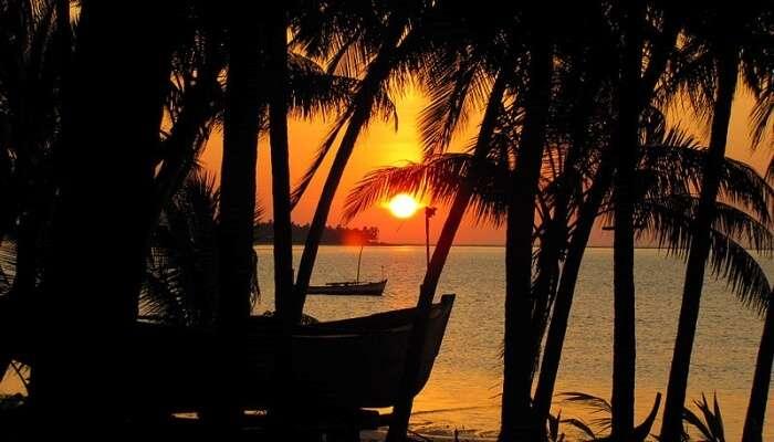 Sunset at island, Lakshadweep