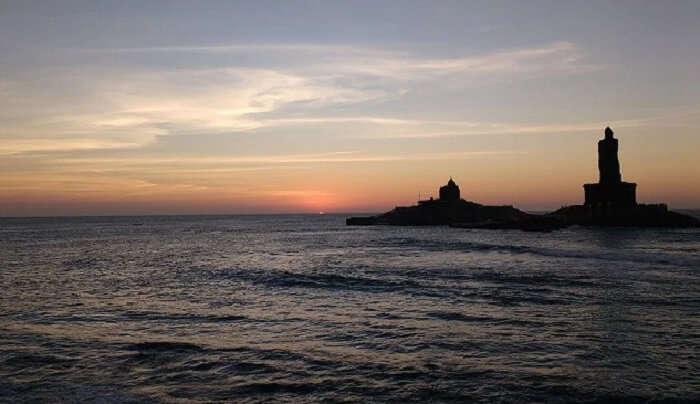 kanyakumari seacoast view