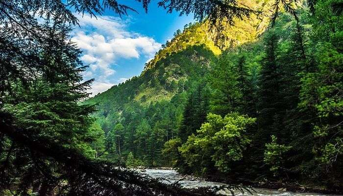 scenic village of Kasol