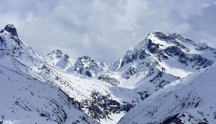 snowcapped mountain is beautiful