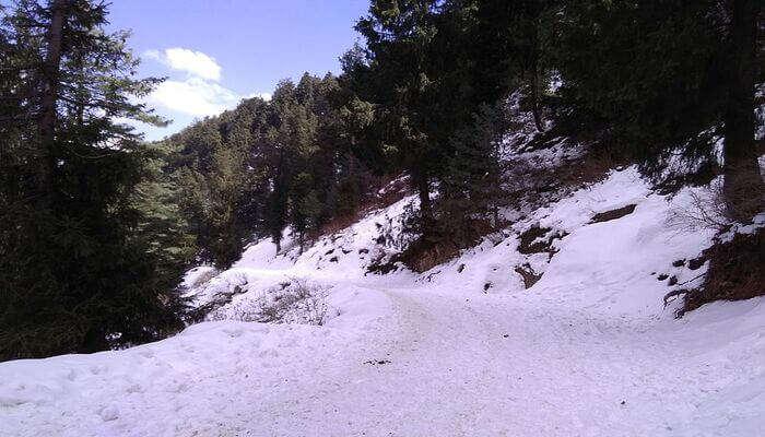 Kufri icy hill