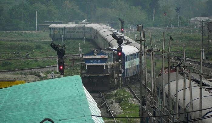 an Indian express train
