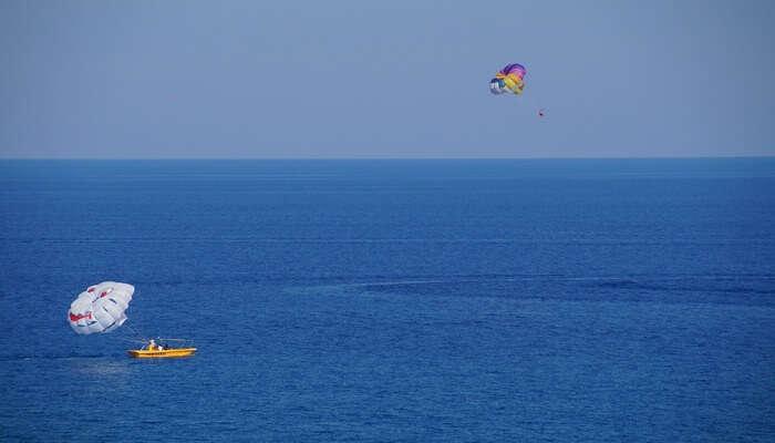 Parasailing In Majorda Beach