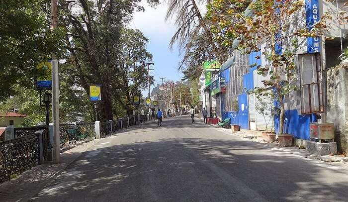 Mall Road is the heart of Mussoorie