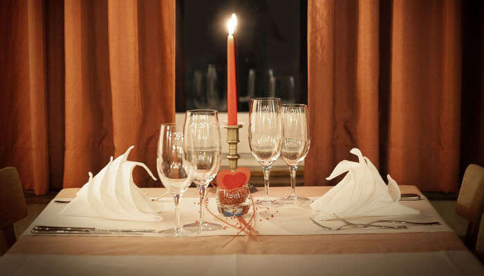 Romantic Restaurant Table