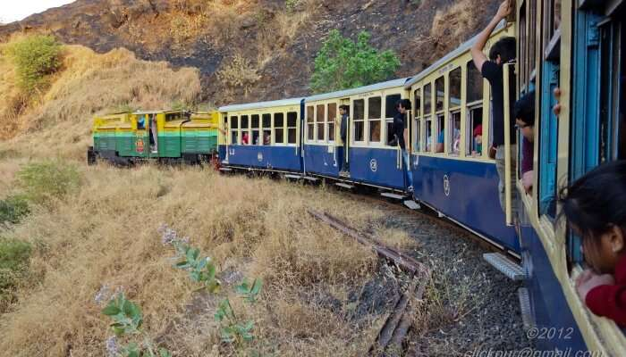 matheran toy train gives u delightful area