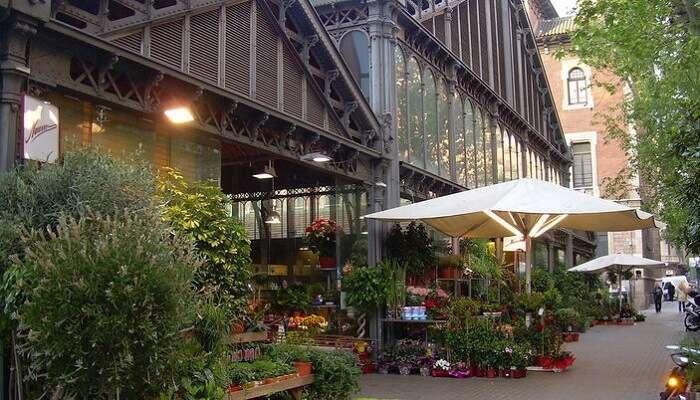best flower market of Barcelona
