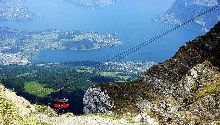 Mt Pilatus - Experience Cable Car Riding