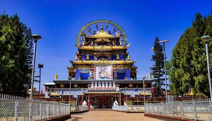 Namdroling Monastery Bylakuppe View