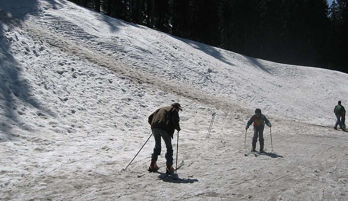 skiing on Narkanda