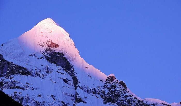 view of beautiful peak