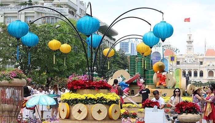 Nguyen Hue Flower Street Festival In Ho Chi Minh