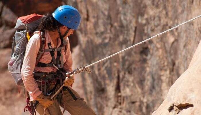 Rock climbing in mount abu