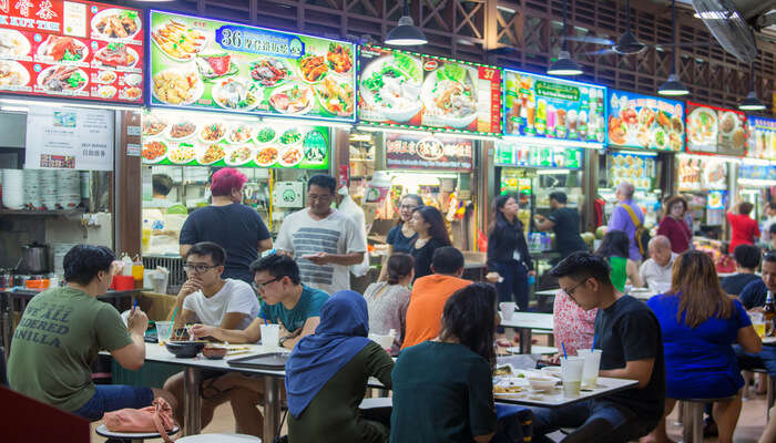 food at a local Hawker centre