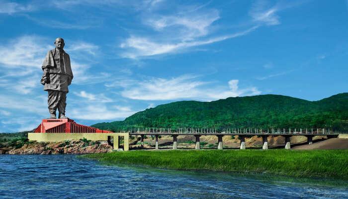View of river sardar dam