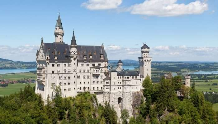 Neuschwanstein castle in Germany