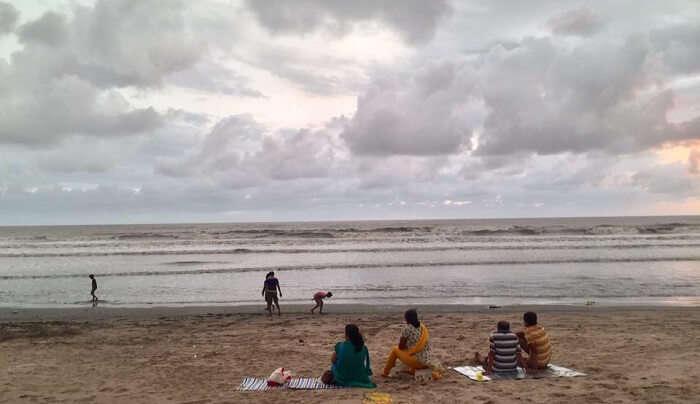 Shirgaon beach is very pristine and calm