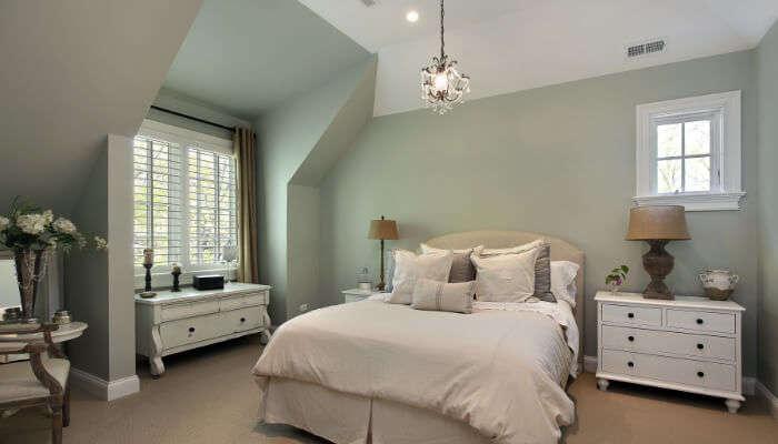 Calm bedroom View