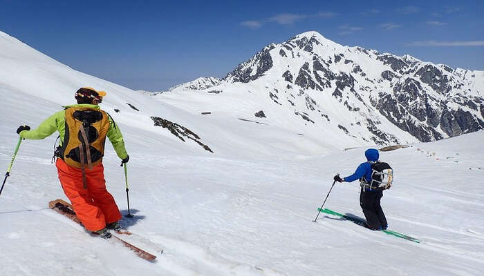Skiing At The Bavarian Alps