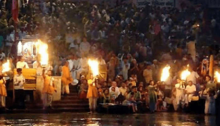Aarti at the Triveni Ghat
