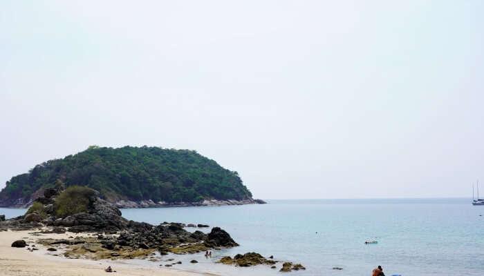 lonely sea beach in Phuket