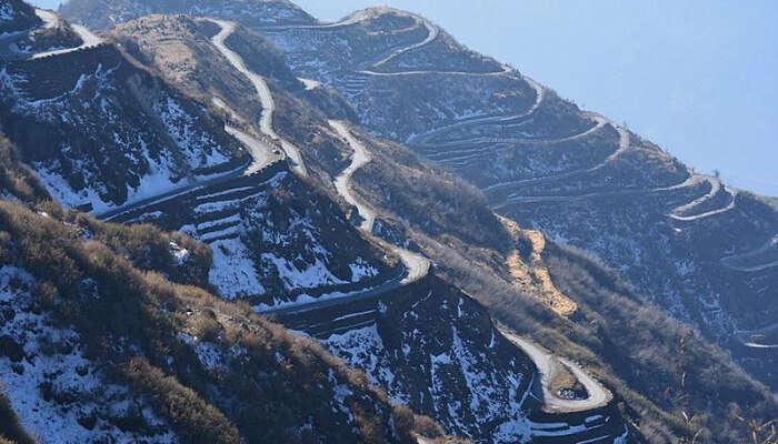 A Mountainous Road in Zuluk