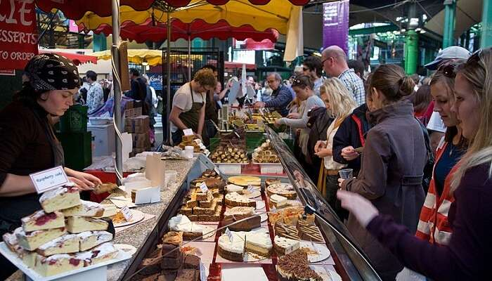 food stall in borough market