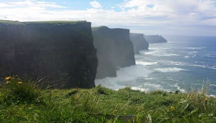 Cliffs and sea