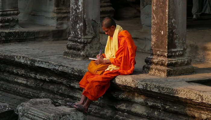 monk in a monastery