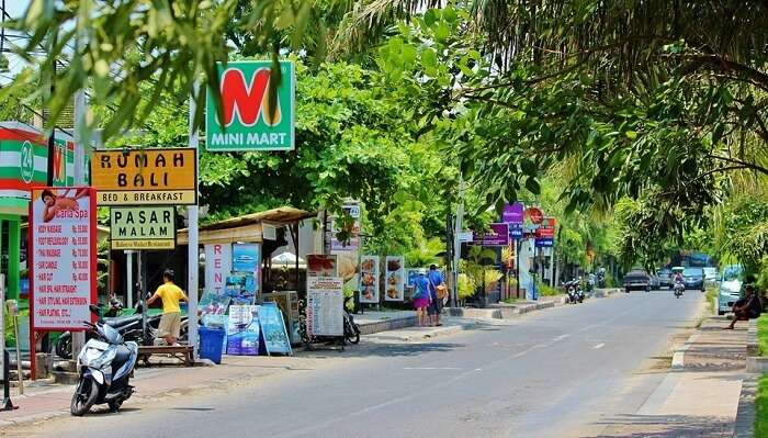 nusa dua shopping street