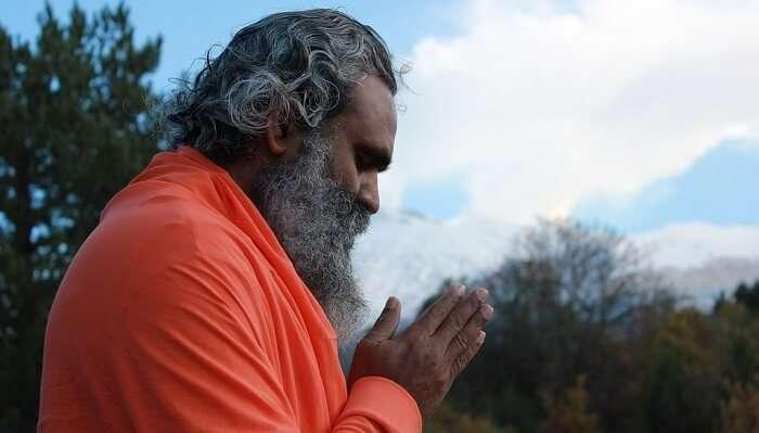 praying and meditating