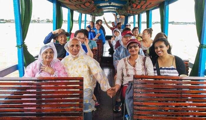 enjoying the tour in mekong dalta