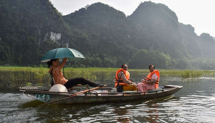 Tam coc a perfect place for a boat trip