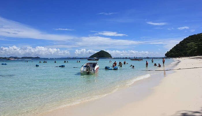 pristine beaches with clean blue waters