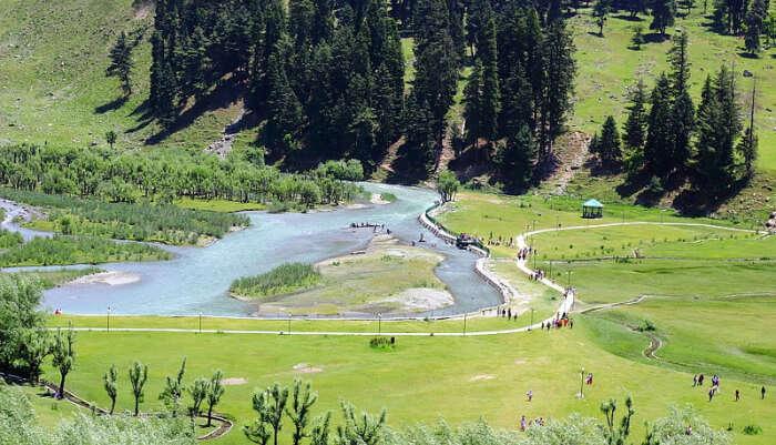 Betaab Valley in Kashmir