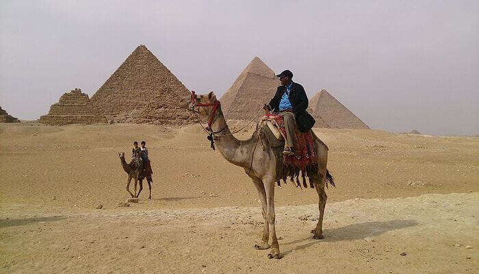 camel ride in Giza