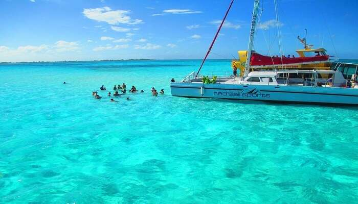 crystal clear water of sea