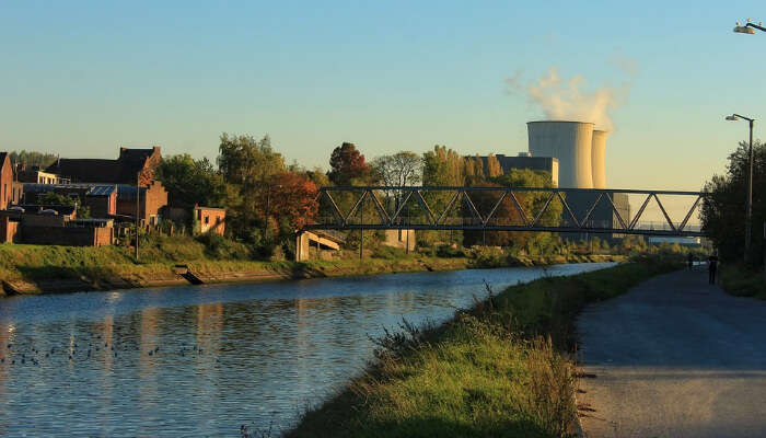 A Canal by a Factory in Charleroi