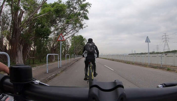 cycling around the city