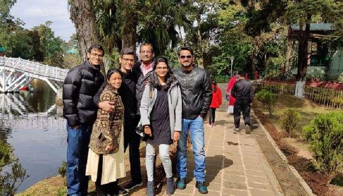 bhavitha's family pic on trip