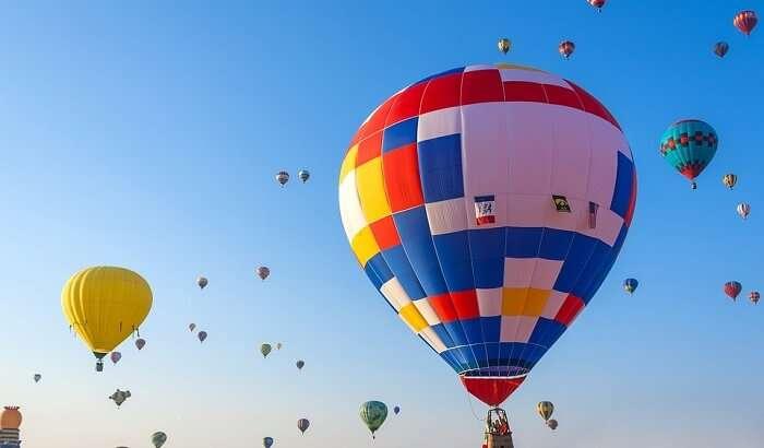 hot air balloon ride is fun