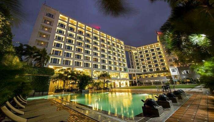 a lavish stay in a grand hotel
