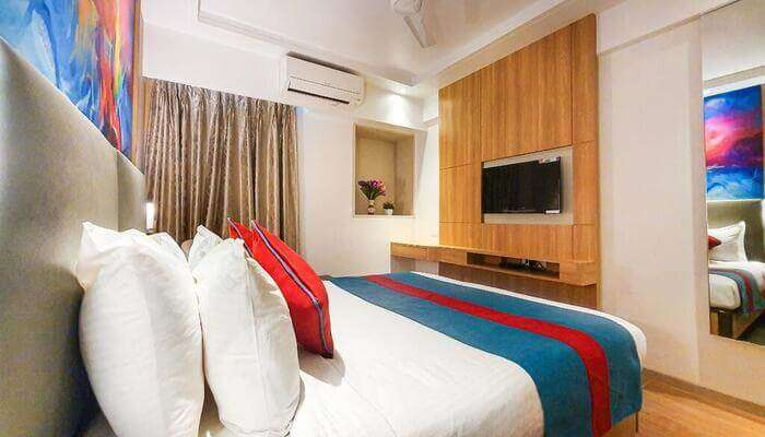 luxurious rooms in the hotel