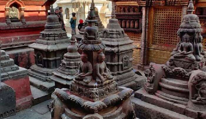 explore the templee in Nepal