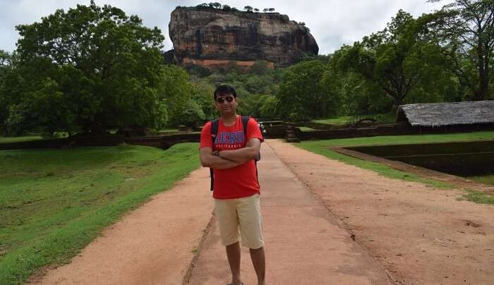 at sigiriya rock